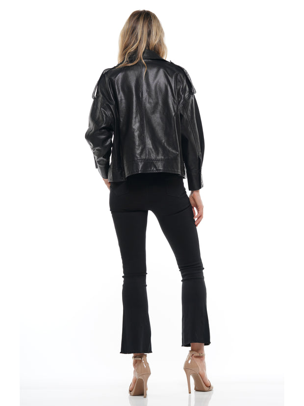 BELT LEATHER MOTORCYCLE JACKET COAT | Why Dress
