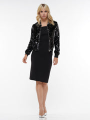 SEQUIN  SPARKLY ZIPPER JACKET | Why Dress