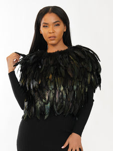 FEATHER JACKET VEST | Why Dress