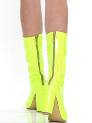 NEON GREEN BLOCK BOOT | Why Dress