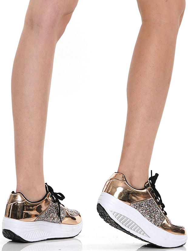 SHIMMER CHUNKY SNEAKER | Why Dress