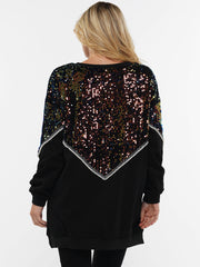 SHINE BRIGHT SEQUIN SWEATER