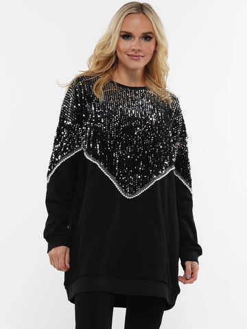 SHINE BRIGHT SEQUIN SWEATER | Why Dress