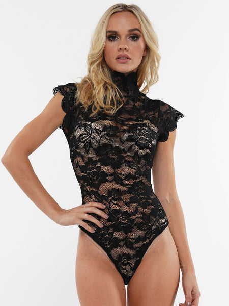 FLORAL LACE CORSET BACK BODYSUIT | Why Dress