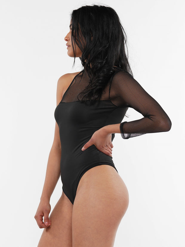 SEE-THROUGH SHOULDER BODYSUIT | Why Dress