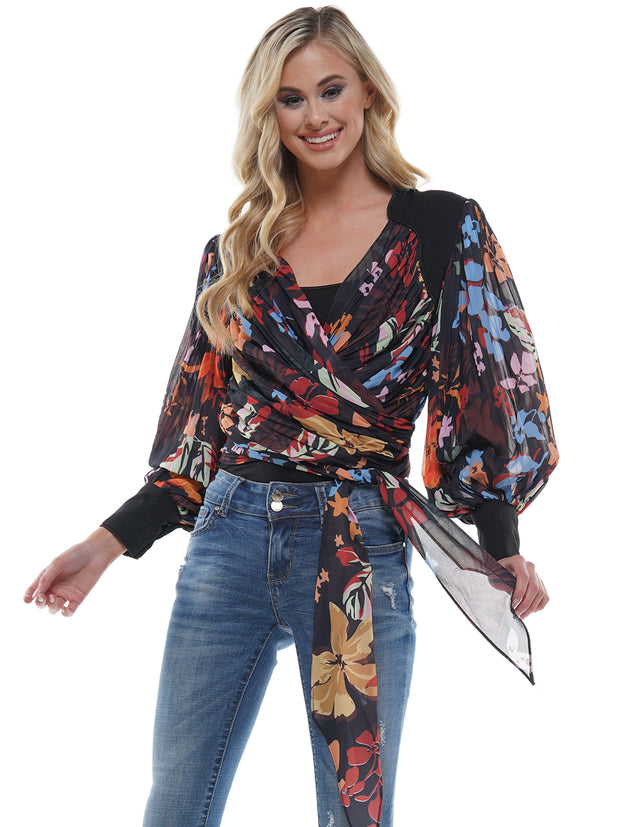 Floral Puffy Sleeve Blouse | Why Dress