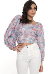 Floral Cotton Candy Crop Top | Why Dress