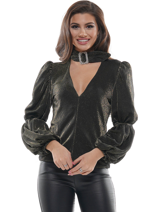 Renaissance Choker Puffy Sleeve | Why Dress