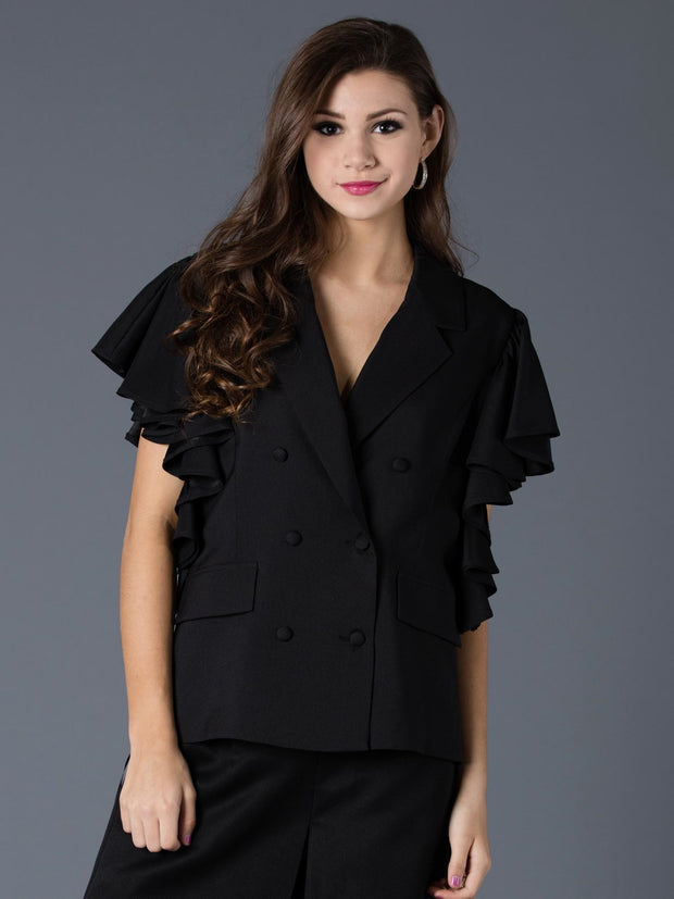 RUFFLE SLEEVE JACKET | Why Dress