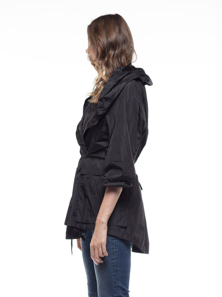 WINDBREAKER POCKET DETAIL LONG JACKET | Why Dress