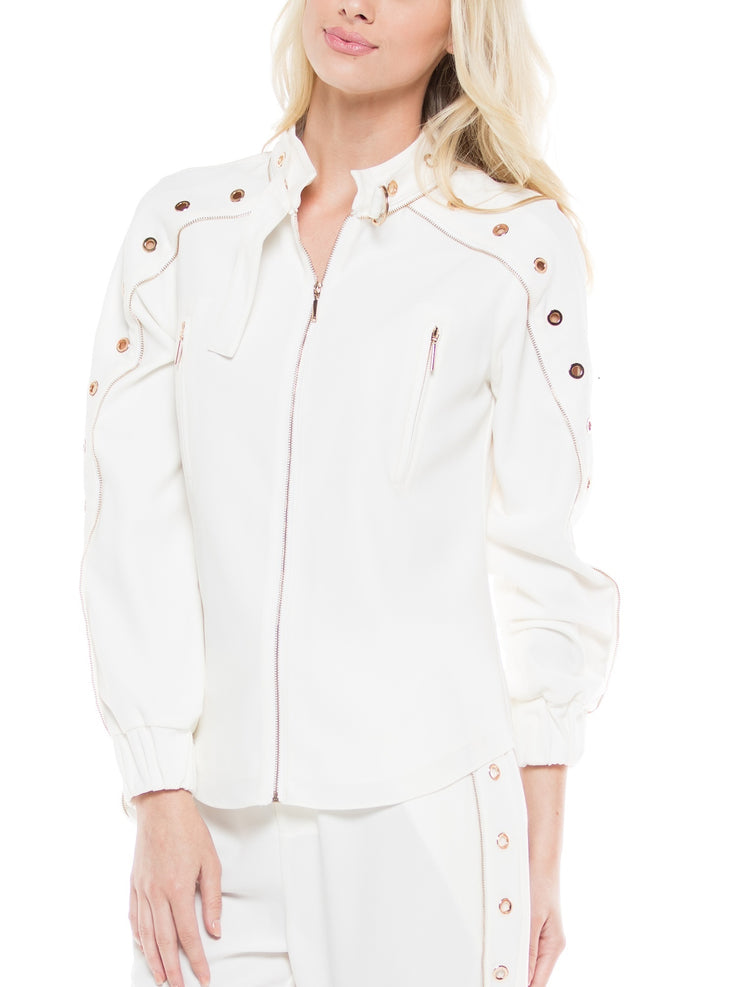 CRPEP EYELET DETAIL JACKET | Why Dress