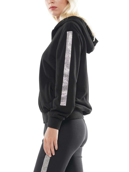 Zip up gemstone hoodie