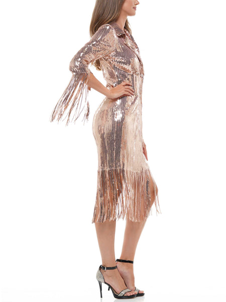 Sequin fringe jacket