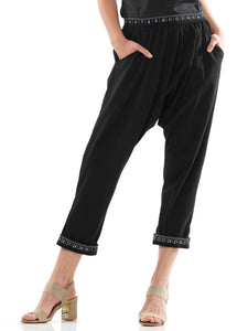 Sweater knitted fabric baggy pants