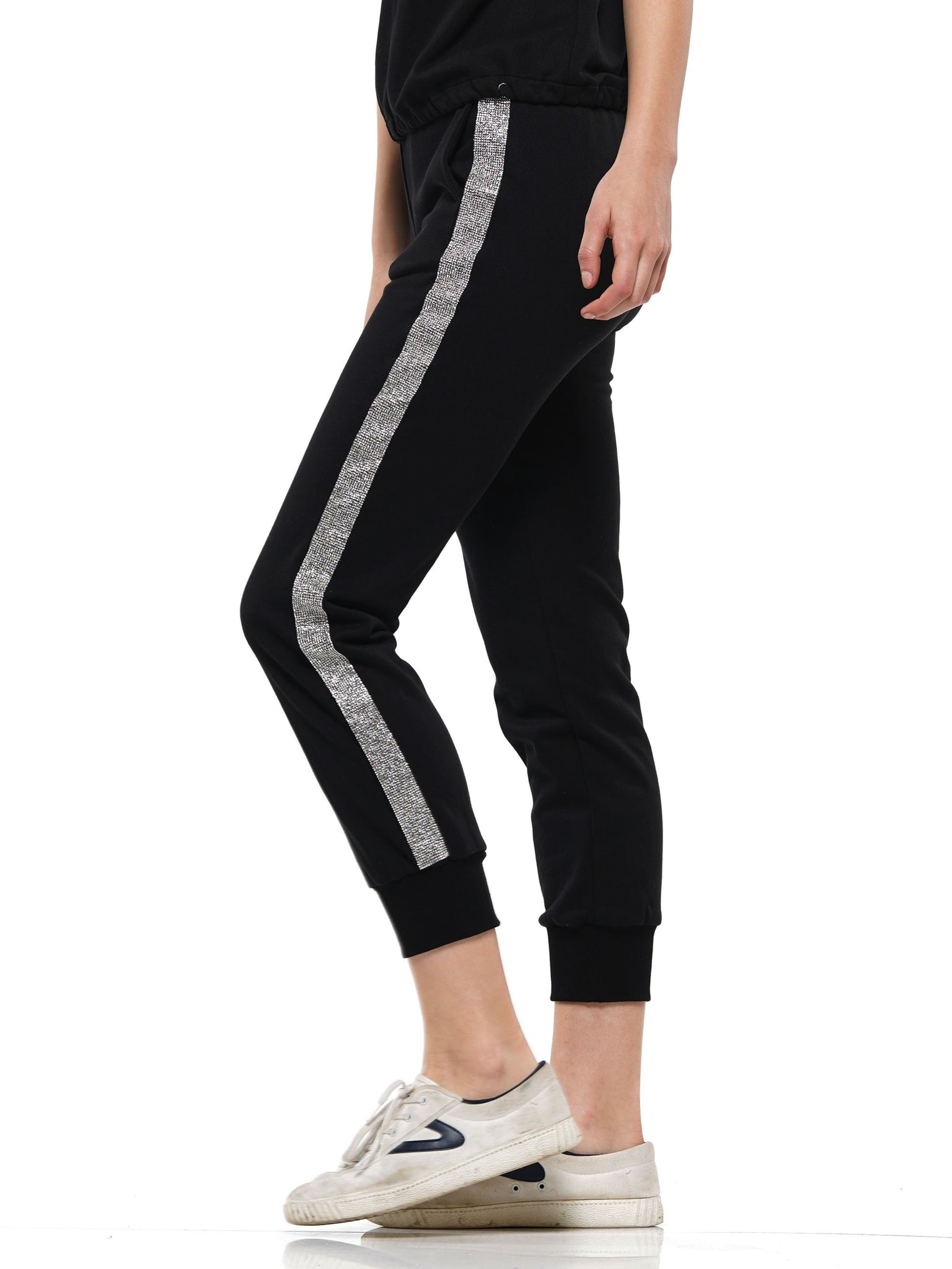 Joggers featuring heat stone trim