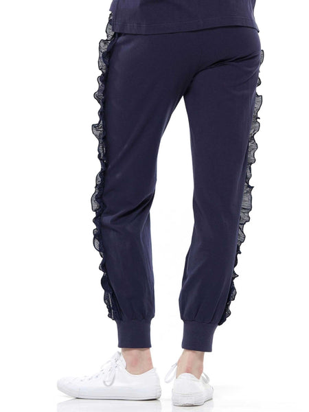 Ruffled jogger pants