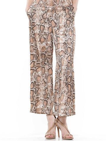 Animal printing wide-legged pants