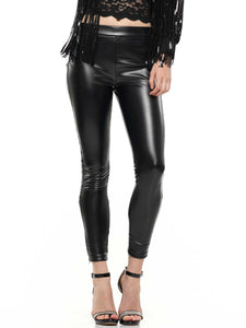 Pleather skinny pants