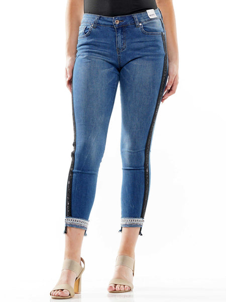 Beaded line point denim