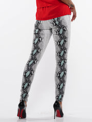 Snake Pattern Skinny Jean | Why Dress