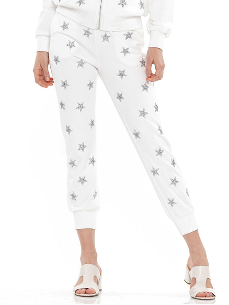 Star embellished jogger pants