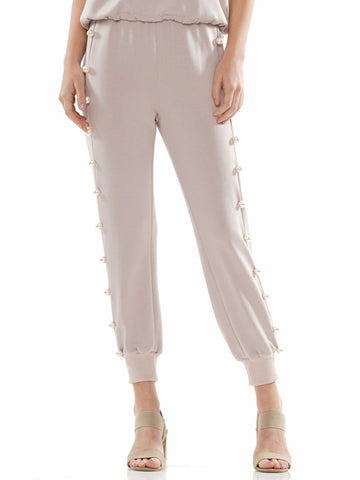 Pearl trim jogger pants