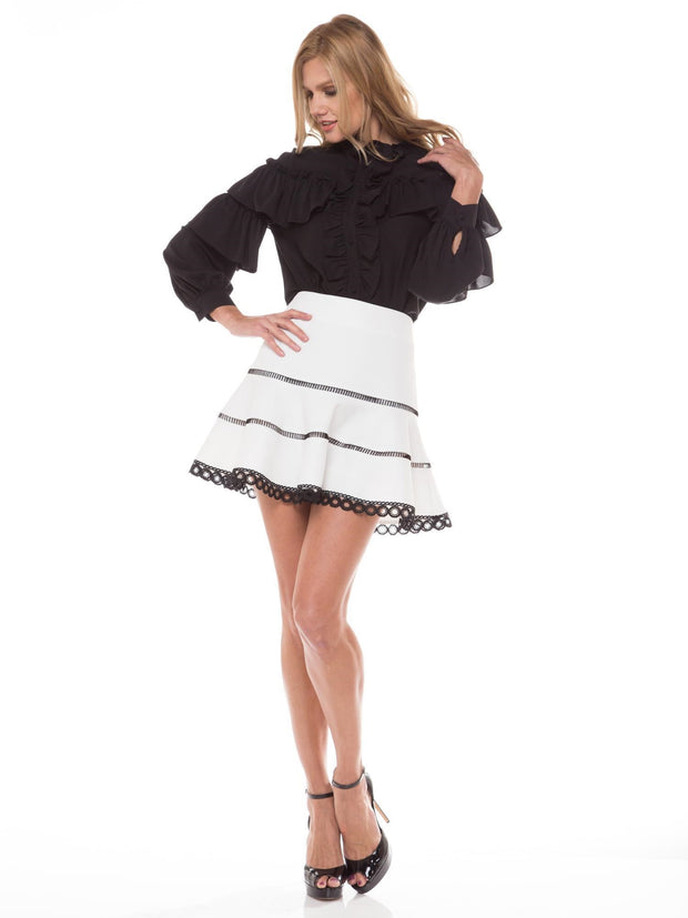 Short Laced A-Line Skirt | Why Dress