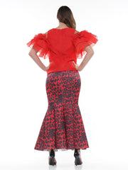 Leopard print fabric Mermaid long skirt | Why Dress