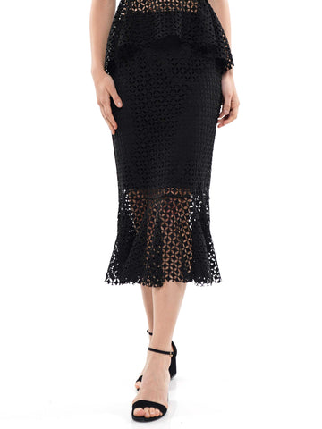 Body skimming mermaid hem midi skirt