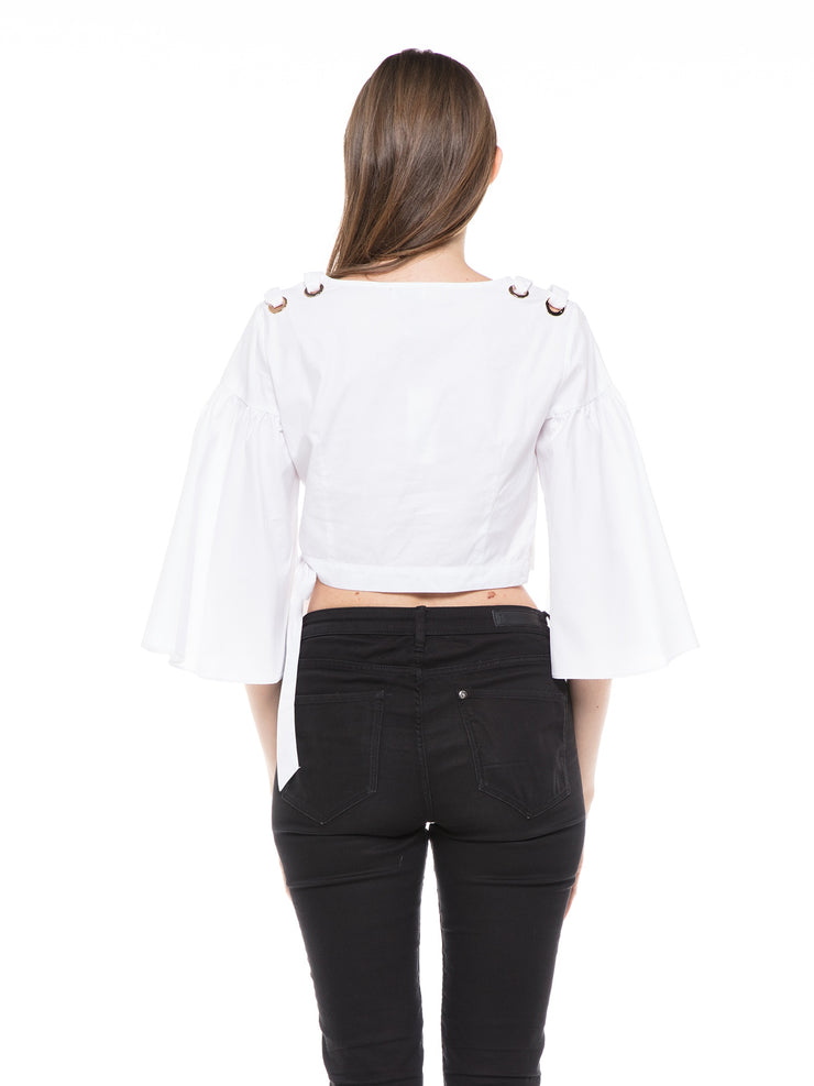 Sleeves Puff Design Crop Top | Why Dress