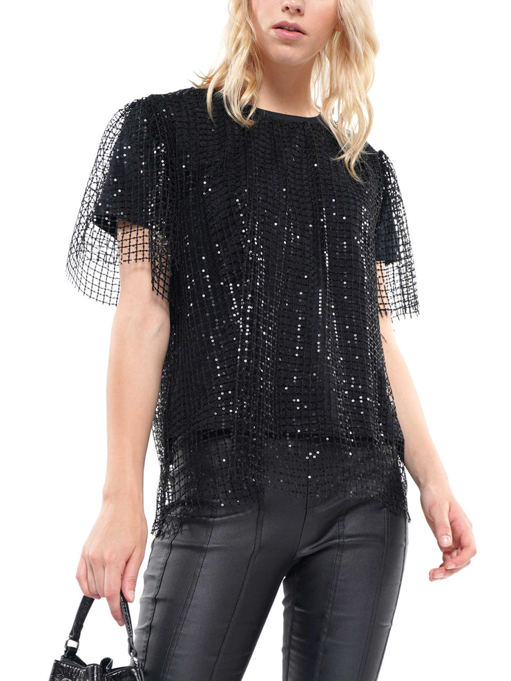 Sequin Mesh Top | Why Dress