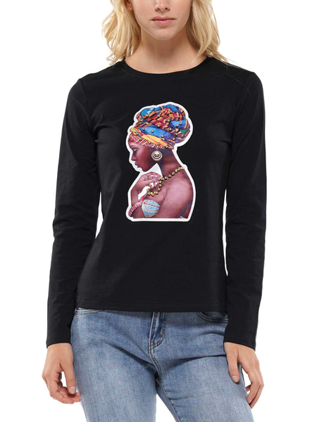 Girl patch long sleeve t-shirt