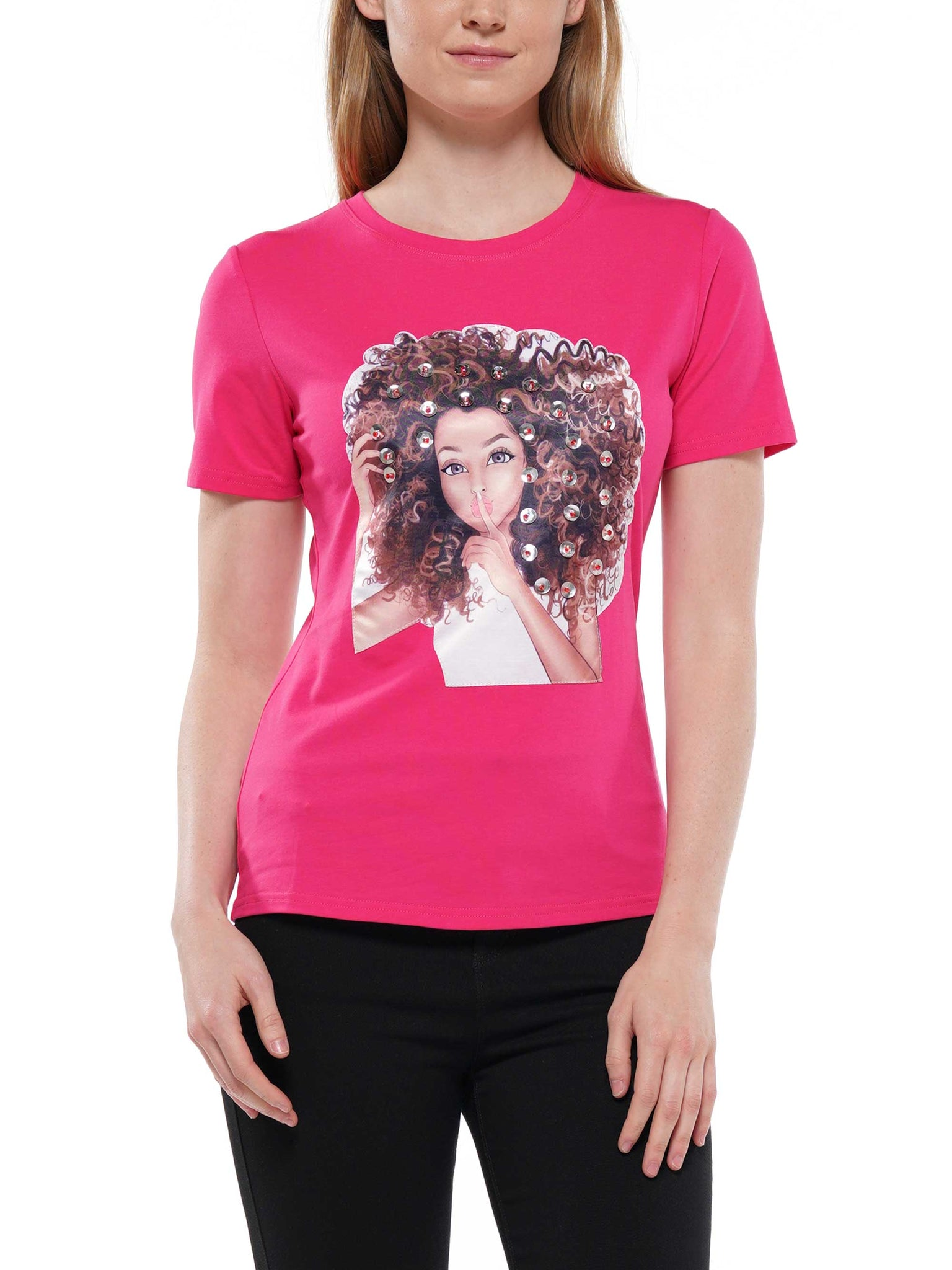 Girl patch t-shirt