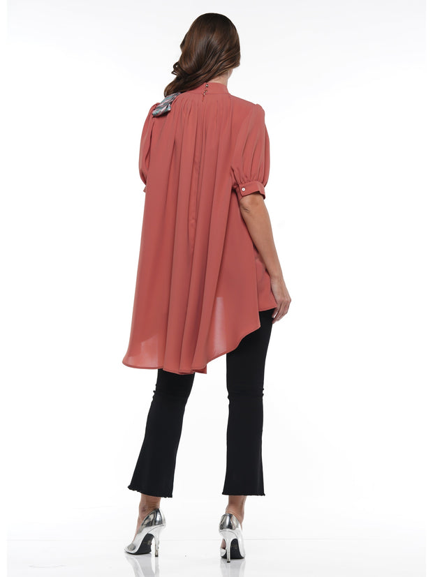 HILO HALF SLEEVED BLOUSE COMES WITH MATCHING SCARF - Why Dress