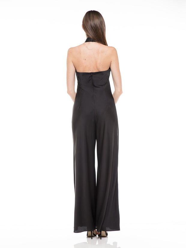 WIDE LEG HALTER JUMPSUIT