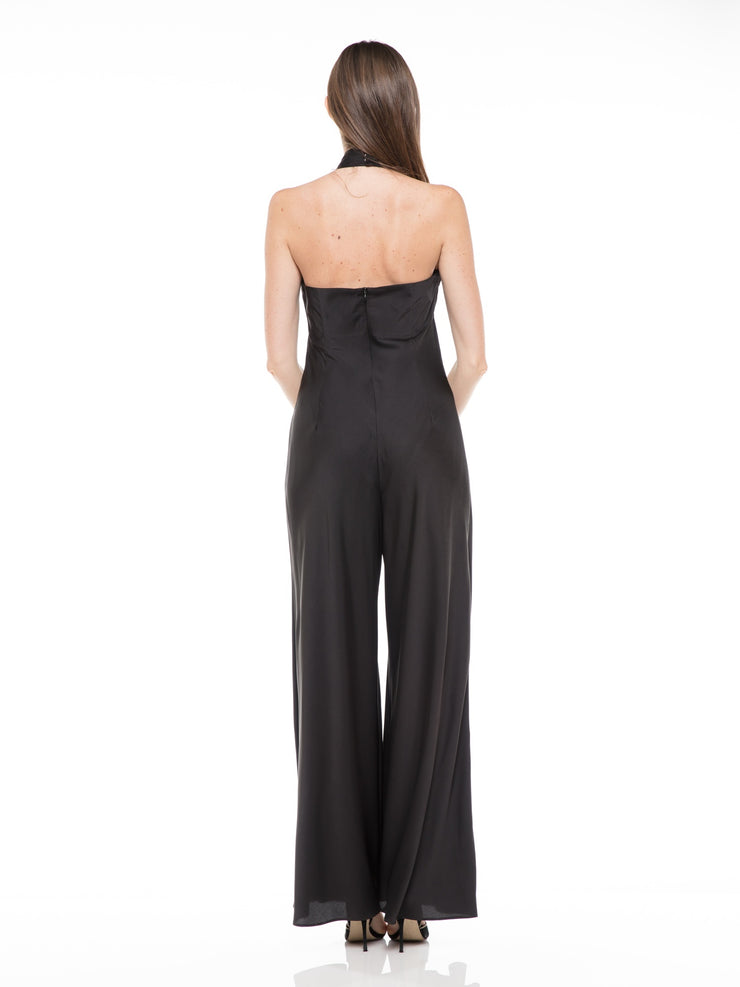 Wide Leg Halter Jumpsuit | Why Dress