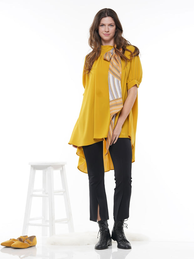 HILO HALF SLEEVED BLOUSE COMES WITH MATCHING SCARF