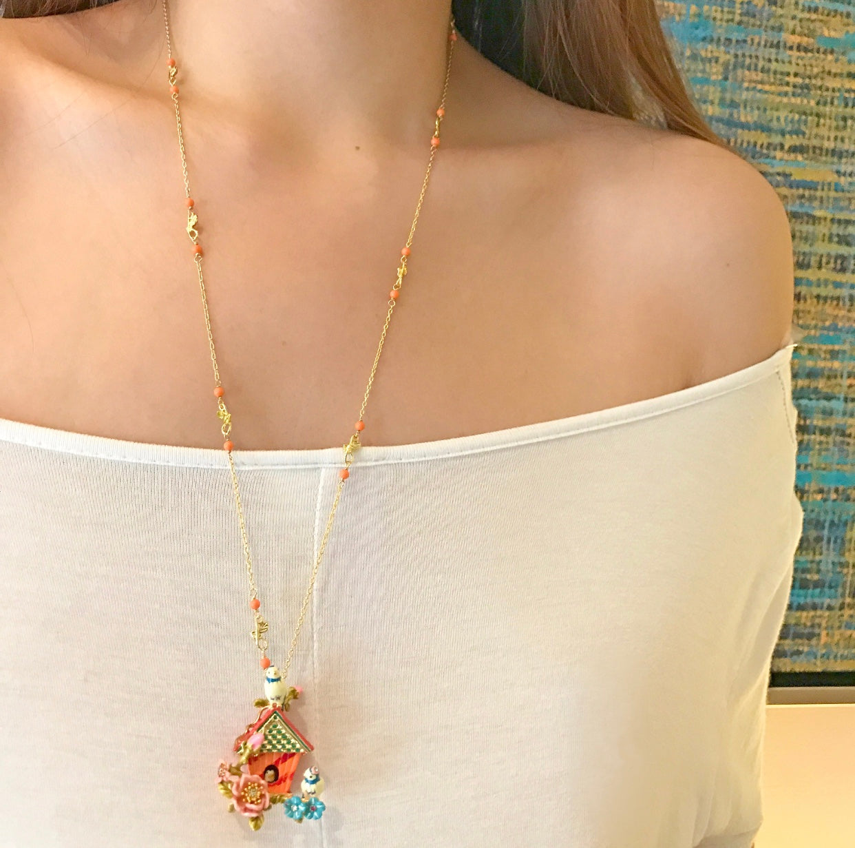 The Bird House long necklace