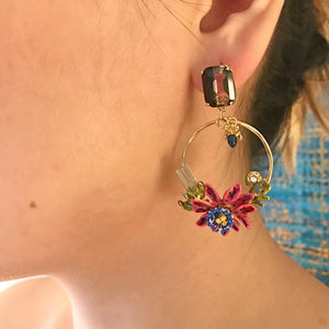The Gem Garden Statement Earrings