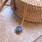 Alice Teapot long chain necklace