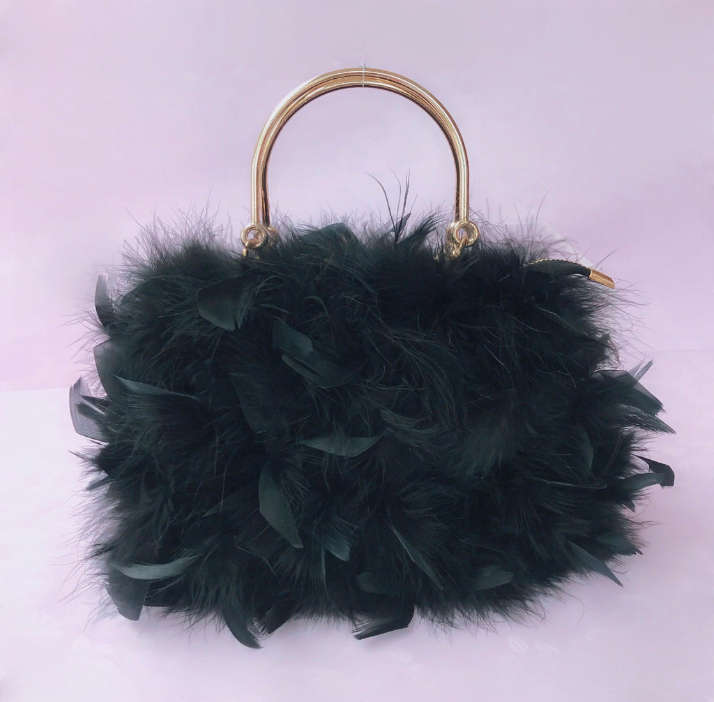 The Feather bag in black