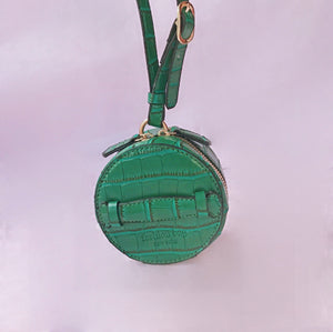 Micro Croc Fashion Bag in Green
