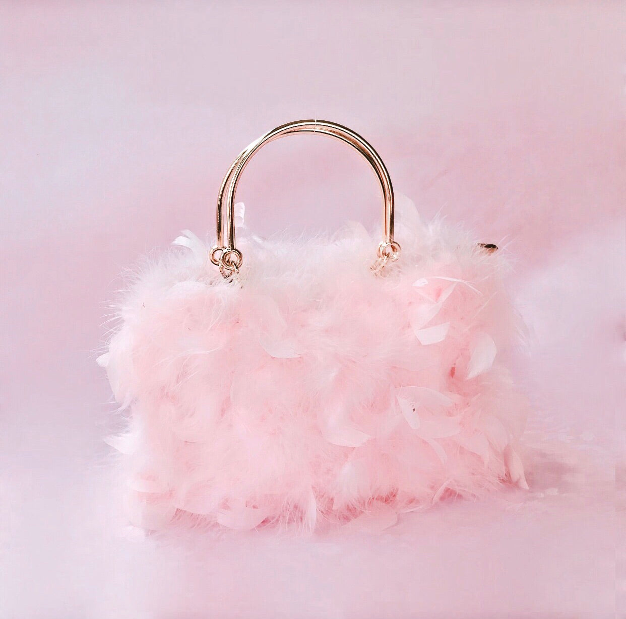 The Feather bag in blush