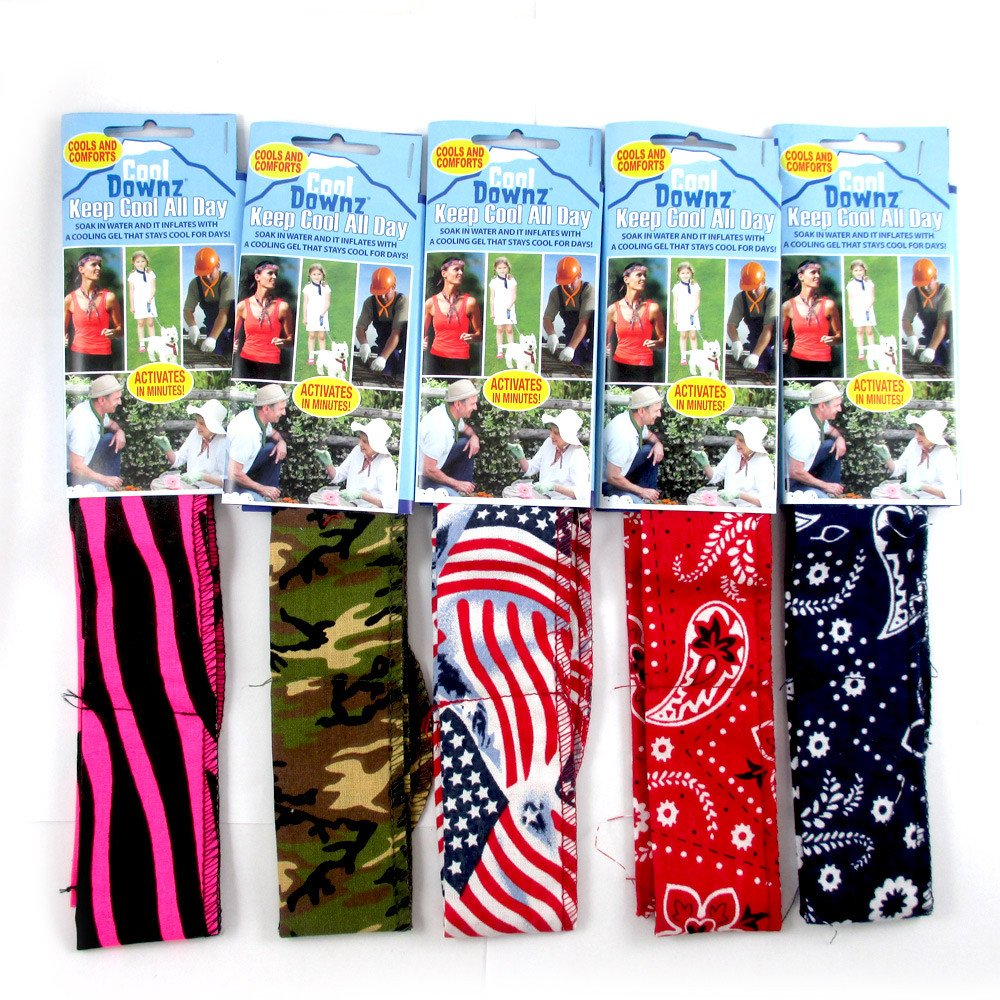 Cool Downz® Neck Cooling Wraps 24 Piece Display