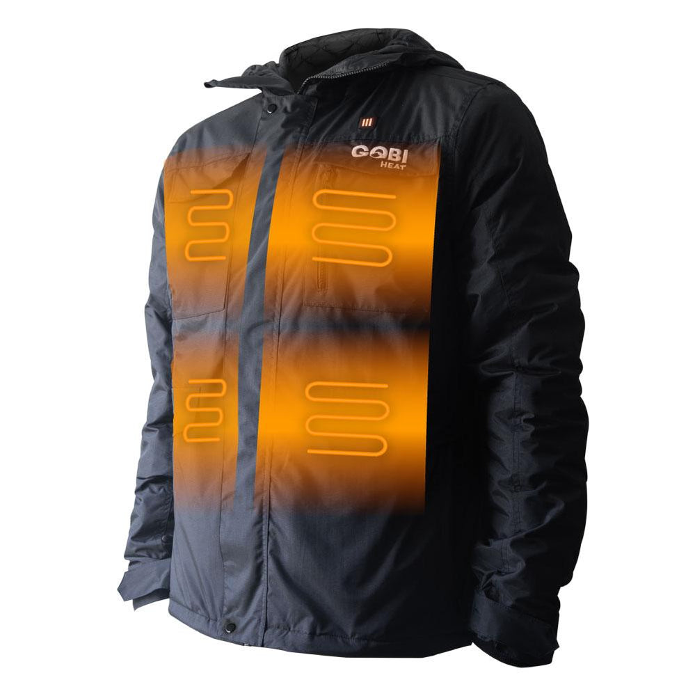 Shift Men's 5 Zone Heated Snowboard Jacket, MIG, Hot Headz International