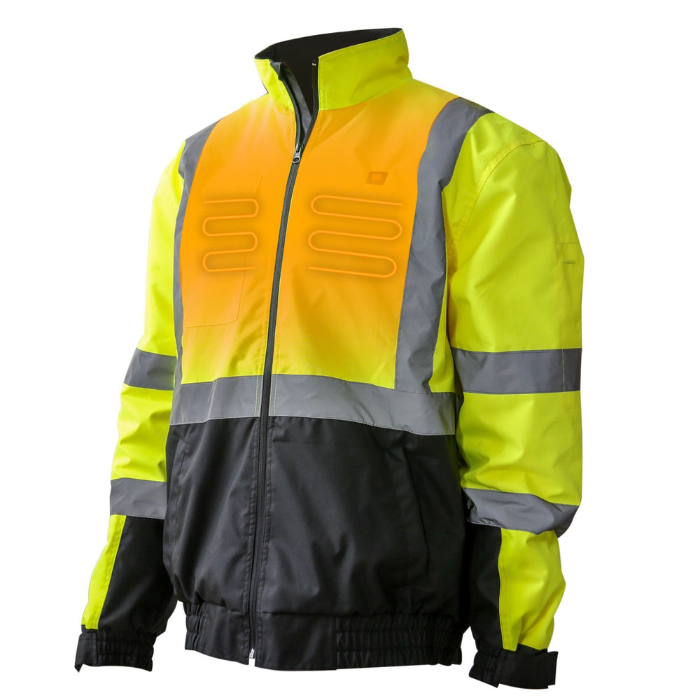 Flash HIVIS Reflective Heated Jacket, MIG, Hot Headz International