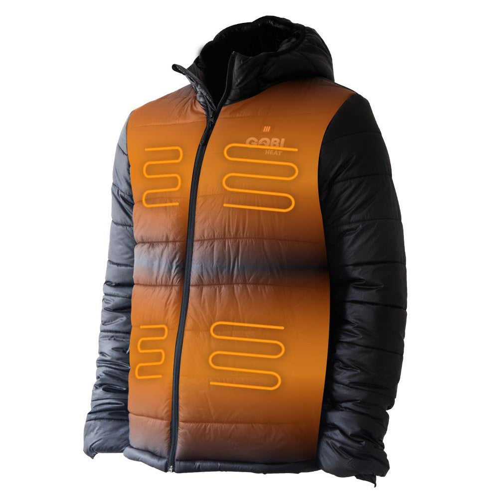 Nomad Men's 5 Zone Heated Jacket, MIG, Hot Headz International