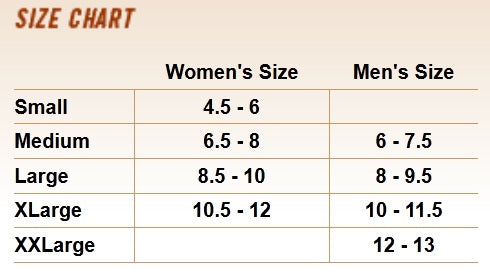 Volt Heated Slippers Sizes - Volt Size Chart - 3Volt Slippers Sizes