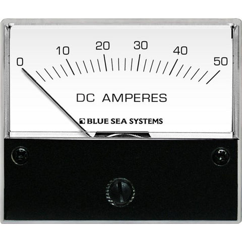 Blue Sea 8022 DC Analog Ammeter - 2-3-4 Face, 0-50 AMP DC [8022]
