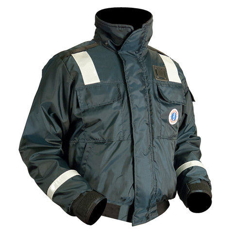 Mustang Classic Bomber Jacket With Solas Reflective Tape:  XXXL [MJ6214T1-XXXL-NV]